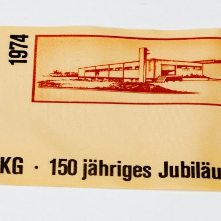 Jubiläumsetikett Acetatseide 1974